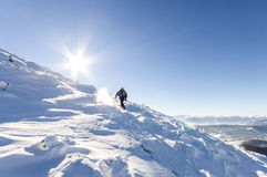 альпиниста mont ледника Франции blanc гулять мыжского гористый Reac альпиниста Стоковые Фото