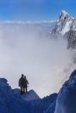 Альпинисты на массиве Монблана Стоковое Изображение RF