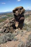 Альпинисты на свисая скале стороны обезьяны Стоковая Фотография RF