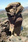 Альпинисты на свисая скале стороны обезьяны стоковое изображение rf