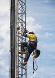 Альпинист башни Стоковая Фотография RF