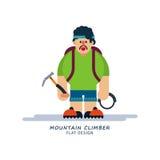 Альпинист в стиле шаржа Стоковая Фотография RF