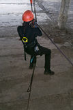 Альпинист на веревочках Стоковое Фото