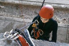 Альпинист на крупном плане веревочек Стоковое Фото
