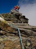 Альпинист на Hochwildestelle стоковое изображение rf