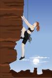 Альпинист утеса Стоковое Фото