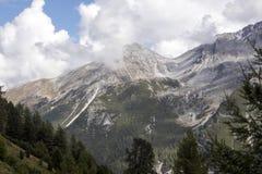 Альпы в лете на высоте 2092, Италия Стоковые Фото