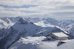 Альпы в зиме стоковое изображение rf
