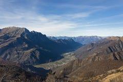 Альпы и Prealps от Valtorta, Ломбардии Стоковые Изображения RF