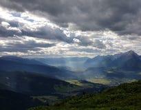 Альпы Tirol на лете Стоковое Изображение RF