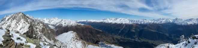 Альп в зиме Стоковое Изображение RF