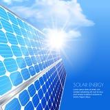 Альтернативная солнечная энергия способная к возрождению и экологическая концепция Стоковое фото RF