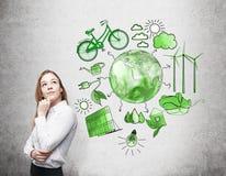 Альтернативная энергия, чистая окружающая среда стоковые изображения rf