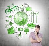 Альтернативная энергия, чистая окружающая среда иллюстрация штока