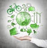 Альтернативная энергия, чистая окружающая среда стоковое изображение