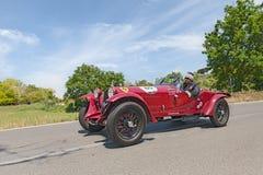 Альфа Romeo 6C 1500 GS Zagato (1933) в Mille Miglia 2014 Стоковое Фото