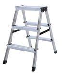 Алюминиевая изолированная шаг-лестница металла Стоковые Фото