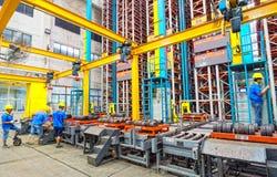 Алюминиевая мастерская фабрики Стоковые Фото
