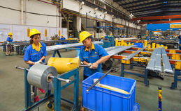 Алюминиевая мастерская фабрики Стоковое фото RF