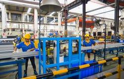 Алюминиевая мастерская фабрики Стоковые Изображения RF