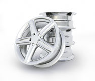Алюминиевое изображение колеса высококачественное - перевод 3D Стоковая Фотография