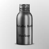 Алюминиевые косметические бутылки металла упаковки, ящик для хранения металла, бутылка эфирного масла с алюминиевой завинчивой пр Стоковые Фото
