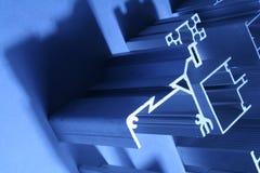 Алюминиевый конспект штранг-прессований промышленный Стоковое Изображение