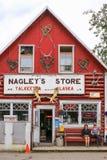 Аляска известное Nagley' магазин s в Talkeetna Стоковое Фото