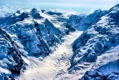 Аляскская страна чудес зимы около национального парка Denali. Стоковое фото RF