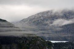 Аляскские горы и ледник Стоковое Изображение RF