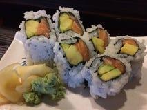 Аляскские суши крена в ресторане Стоковое фото RF