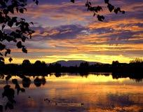 Аляскский заход солнца Стоковое фото RF