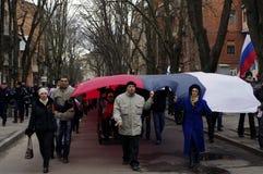 ?ntiauthority-Protest in Charkiw, Ukraine stockfotografie