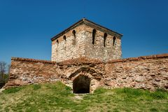 Баба Vida - старая средневековая крепость в Vidin, в северозападной Болгарии Перемещение к концепции Болгарии Стоковое Изображение