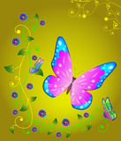 бабочка абстракции Стоковое Изображение