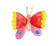 Бабочка акварели красочная Стоковое Фото