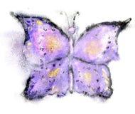 Бабочка акварели Стоковое Изображение