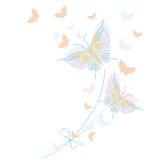 Бабочка, бабочки, чертеж, иллюстрация вектора