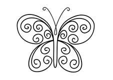 бабочка богато украшенный Стоковые Фотографии RF