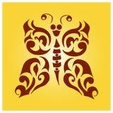 Бабочка вектора племенная Стоковое фото RF