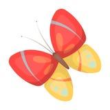 Бабочка весны Значок пасхи одиночный в иллюстрации запаса символа вектора стиля шаржа Стоковое Изображение RF