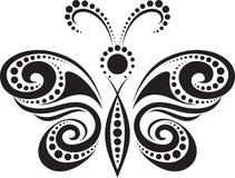 бабочка выравнивает силуэт пункта Стоковые Изображения RF