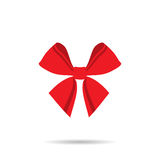 Бабочка ленты с красными линиями на белой предпосылке Стоковые Фотографии RF