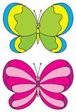 Бабочка (зажим-искусство вектора) Стоковая Фотография RF