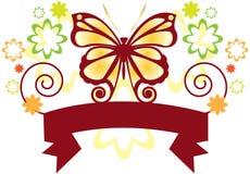 бабочка знамени Стоковая Фотография RF