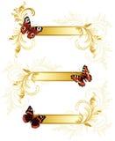 бабочка знамен Стоковые Фотографии RF