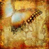 бабочка золотистая иллюстрация вектора