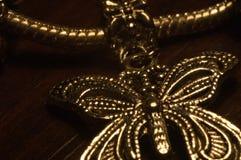 бабочка золотистая Стоковые Изображения