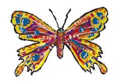 бабочка изолировала покрашено иллюстрация штока