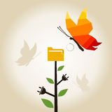 Бабочка информации Стоковое Изображение